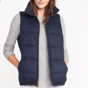 Old Navy Plus Size Puffer Jacket Vest Navy Blue